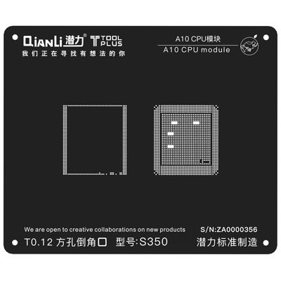 QianLi ToolPlus For iPhone A10 IC eMMC and LPDDR chip Rework Reballing Stencil