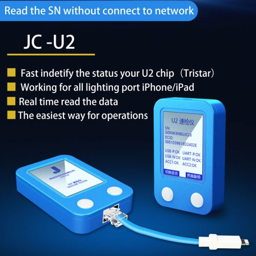JC U2 Tristar Tester for iPhone/iPad U2 Charger IC and SN