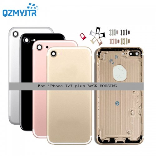 Replacement For iPhone 7 7g Battery Cover Back housing Rear Door Case Middle Frame with Side Buttons Sim Tray for iphone 7 plus