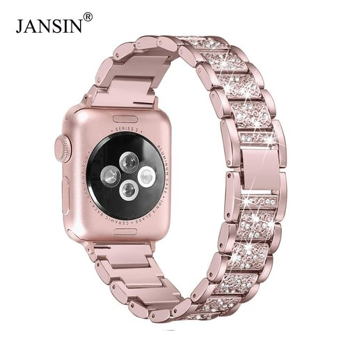 For Apple Watch band 40mm 44mm 38mm 42mm women Diamond Band for Apple Watch series 4 3 2 1 iWatch bracelet stainless steel strap