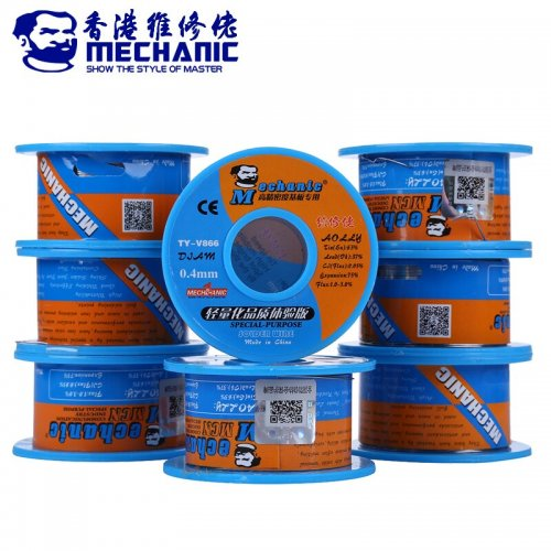 MECHANIC 40g 0.4mm Solder Wire Soldering Tin Wire Rosin Core Sn63% Pb37% Low Melting Point Welding Repair Tools