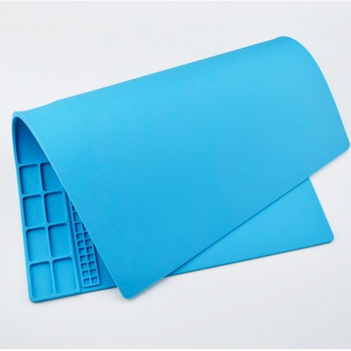 Electric Soldering Pad 35*25cm Silicone Heat Soldering Mat Insulation Maintenance Electronic Iron Pad Phone Repair Desk