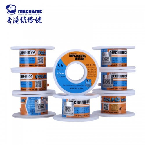 MECHANIC Solder Wire 0.5mm 55g Sn63% Pb37% Low Melting Point Tin Wire Welding Soldering Accessories