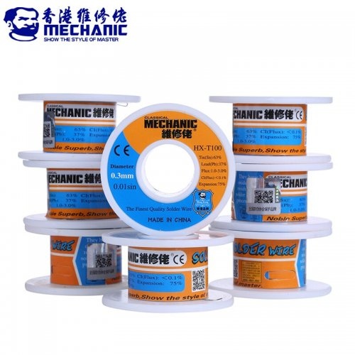 MECHANIC Rosin Core Solder Wire 55g Sn63% Pb37% 0.3/0.4/0.5/0.6/0.8mm Low Melting Point Welding Tin Wire BGA Soldering Tools