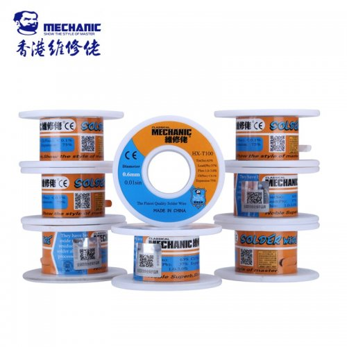 Original MECHANIC Soldering Wire 0.6mm 55g Sn63% Pb37% Low Melting Point Solder Tin Wire Welding Tools