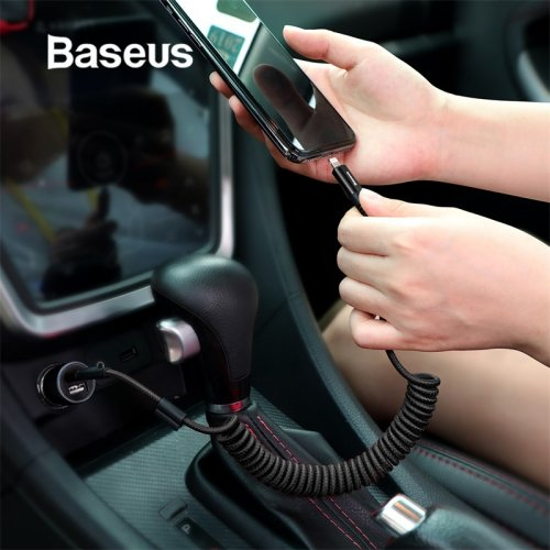 Baseus Spring USB Cable for iPhone Charger Fast Charging Data Cable USB for Car Styling Storage Wire for iPhone X 8 7 6 6s Plus