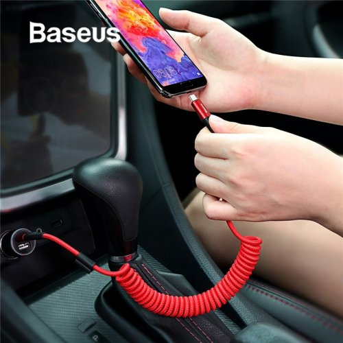 Baseus Spring USB Type C Cable idea for Car Styling Storage Flexible 2A Charging Cable USB C for xiaomi mi 8 Type-C Device