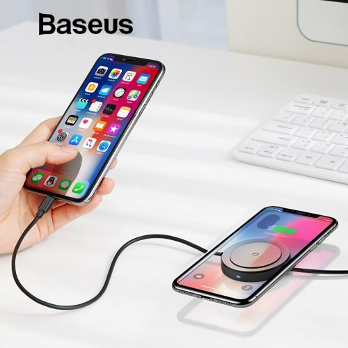Baseus USB Cable With Wireless Charging Function for iPhone X XS Max XR 8 Fast Charging Wireless Charger For Samsung S9 S8 Note9