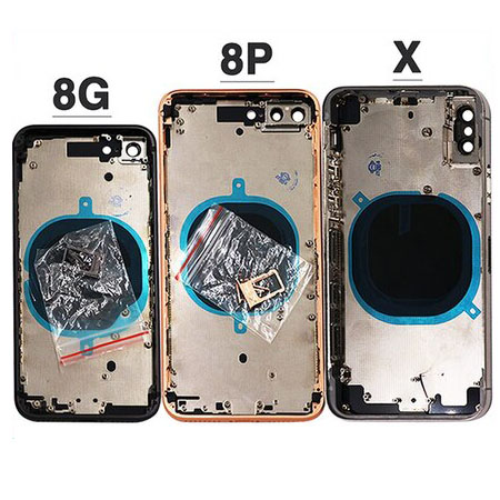 10pcs New 8G X Battery Cover For iphone 8 8 Plus 8P ix X Back Cover + Middle Chassis Frame + SIM Card Full Housing Case Assembly