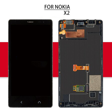 Screen For Nokia X2 Dual Sim X2DS RM-1013 LCD Display Matrix + Touch Screen Digitizer Full Assembly/Frame For Nokia X2