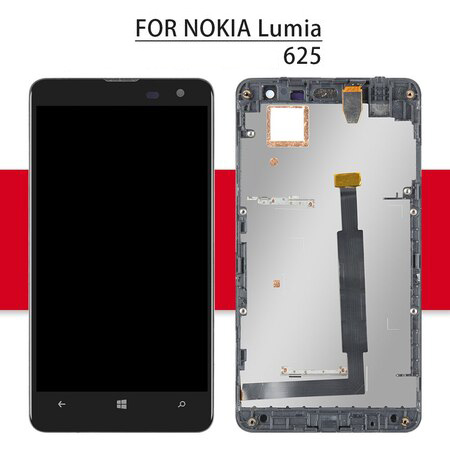 Srjtek 4.7'' For Nokia Lumia 625 LCD Touch Screen With Frame For Nokia Lumia 625 Display Digitizer Assembly Replacement Parts