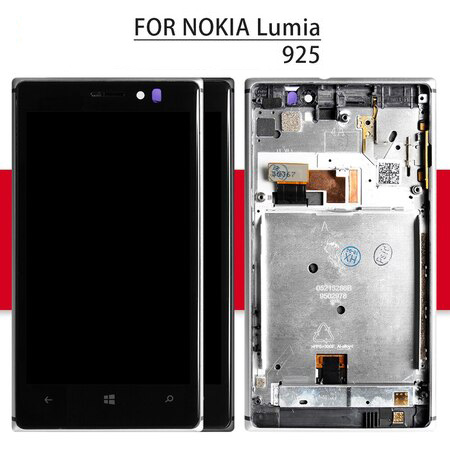 Srjtek For Nokia Lumia 925 LCD with Touch Screen Digitizer Sensor Full Assembly With Frame 4.5'' For Nokia Lumia 925 Display