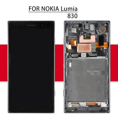 Srjtek For Nokia Lumia 830 Display Touch Screen With Frame For Nokia Lumia 830 LCD RM-984 Digitizer Assembly Replacement Parts