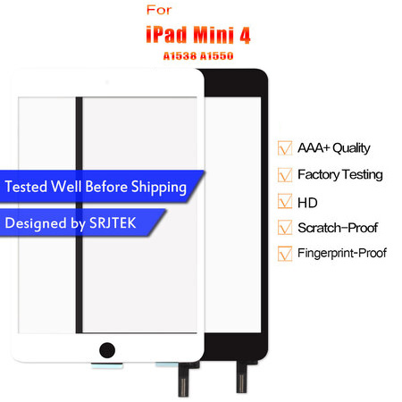 Digtizer For iPad Mini 4 Screen Touch Panel For iPad Mini4 Touchscreen A1538 A1550 Glass Senor Replacement Parts no Home Button