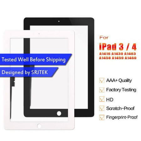 For iPad 3 Touch iPad 4 Touchscreen For iPad3 iPad4 A1416 A1430 A1403 A1458 A1459 A1460 Touch Sceen Digiziter Glass Panel Sensor