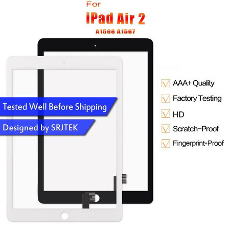 For iPad Air 2 Touch Screen A1566 Digitzer A1567 Screen For iPad 6 Air2 Touch Screen Sensor Glass Panel Replacement For iPad6