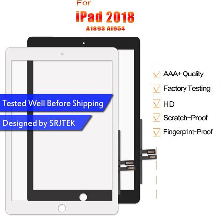 For iPad 2018 Touch Screen Digitizer For iPad 6 iPad 9.7 2018 Screen Glass Panel Replacement Sensor A1893 Touch A1954