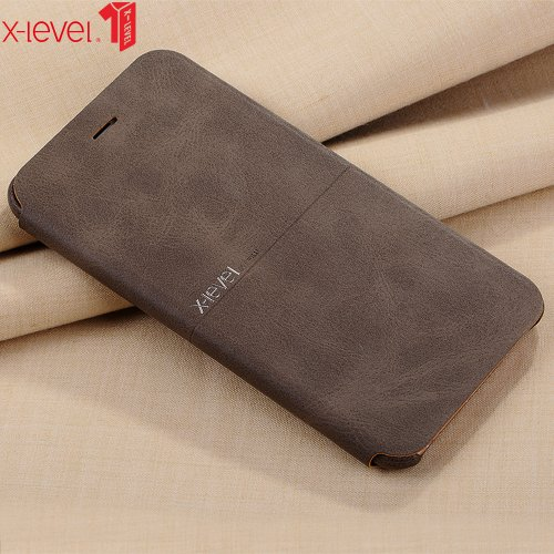 X-Level For iPhone 6 6S Case Leather Cover Ultra Thin PU Flip Stand Business Phone Back Cover For iPhone 6 6S Plus Case