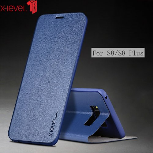 Flip Leather Case For Samsung Galaxy S8 Plus S8+ X-Level Soft TPU Silicone Shockproof Back Cover Case For Samsung Galaxy S8