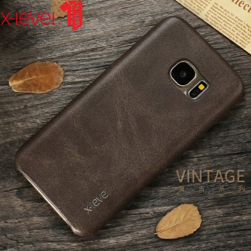 X-Level Leather Case For Samsung Galaxy S7 S8 Original PU Ultra Slim Full Protective Back Cover Case For Samsung S7 Edge S8 Plus