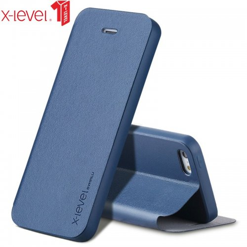X-Level Flip Leather Case For iPhone 5 5S Original Ultra Thin Shockproof Business Back Phone Cover Coque For iPhone 5s 5