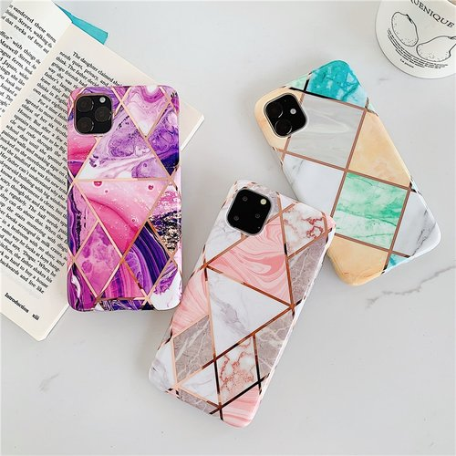 Luxury Plating marble Case For iPhone 11 11Pro Max XS MAX XR X for iphone 7 8 6 6s Plus Soft TPU Silicone Full Cover case Caqa