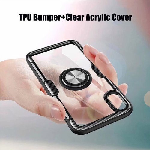 Magnetic Stand Phone Case For iPhone 11 Pro X XR XS Max Case Shockproof Glass Back Cover For iPhone 7 8 Plus TPU Bumper Case