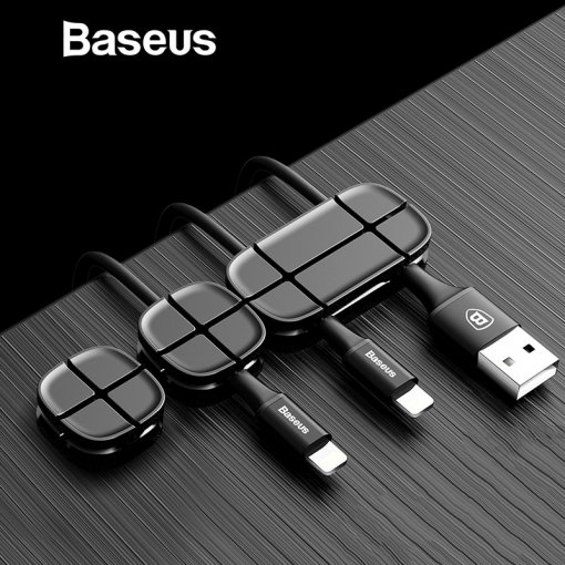Baseus Mobile Phone Cable Clip For Car Desktop Tidy Charger Cable Organizer For Data Cable Digital Wire Charging Cable Winder