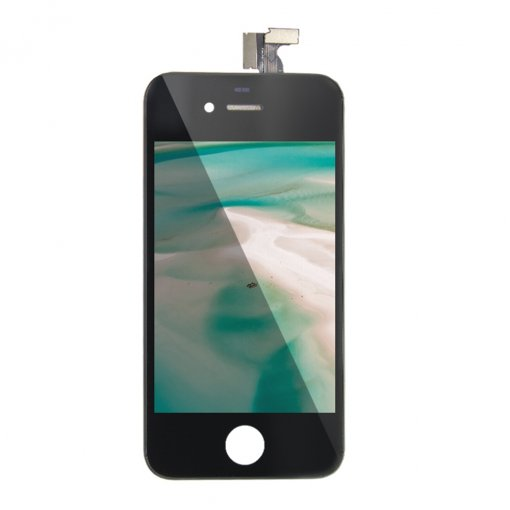 For iPhone 4S LCD Display with Touch Digitizer Assembly Black White