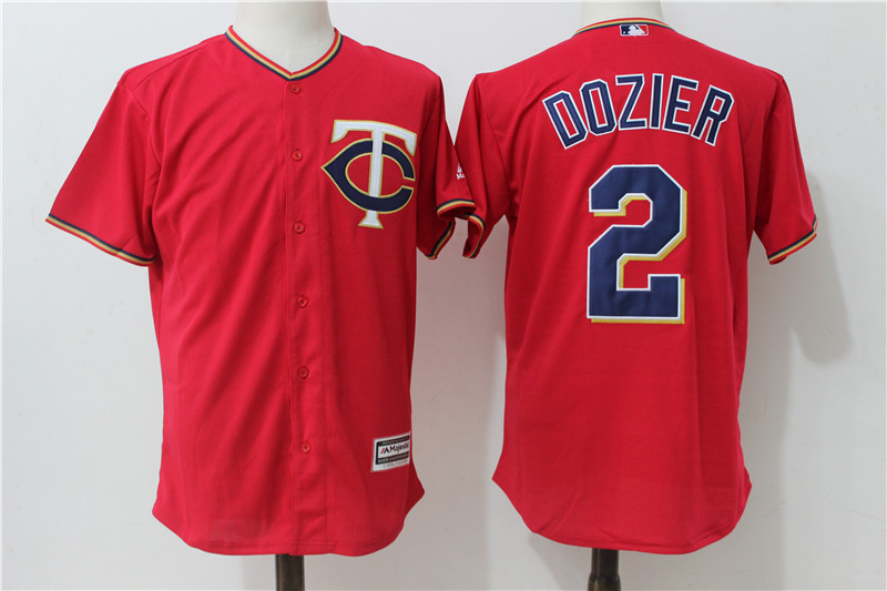 589fcaf3ea6 Minnesota Twins #2 Brian Dozier Red Cool Base Baseball Jerseys Item NO:  953782