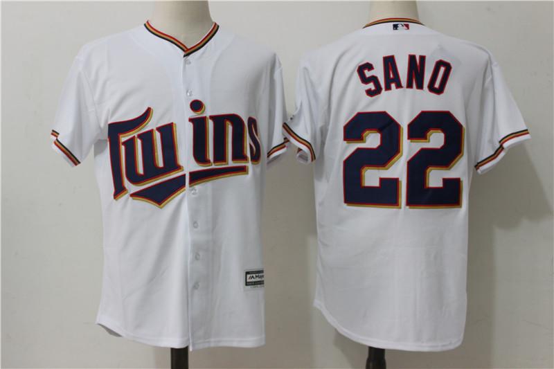 new product 5a229 00cbb Minnesota Twins #22 Miguel Sano White Cool Base Baseball Jerseys