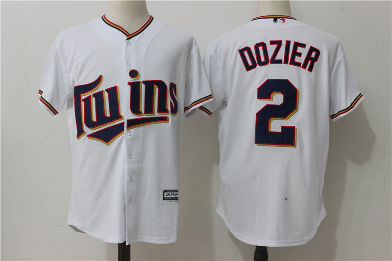 221d086f506 Minnesota Twins #2 Brian Dozier White Cool Base Baseball Jerseys Item NO:  953781