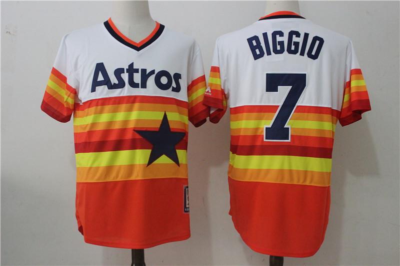 4c3f805d62d Houston Astros #7 Craig Biggio Yellow White Vintage Baseball Jerseys Item  NO: 953620