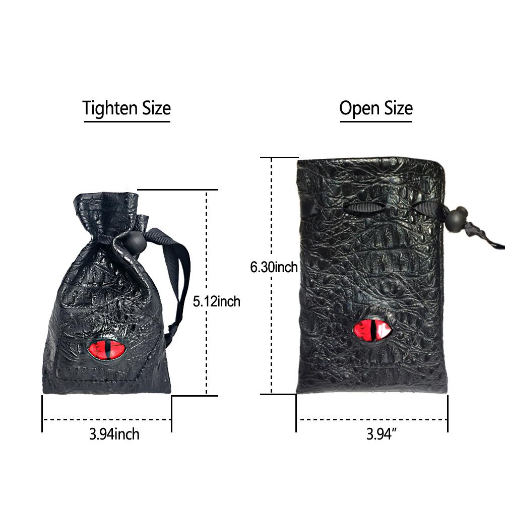 Jaws Shark Fabric Dice Bag for Dice MastersD/&DRPGX-WingArmada