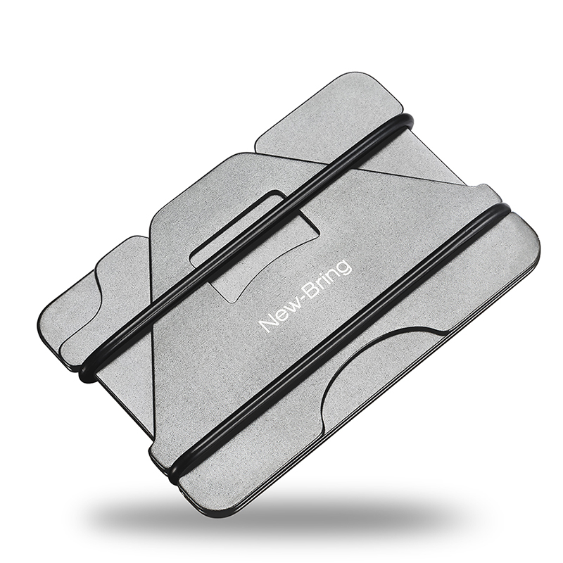 b4df5ad98d4 NEW-BRING Metal Credit Card Holder and Slim Money Clip Wallet, Gray Item  NO: 110193