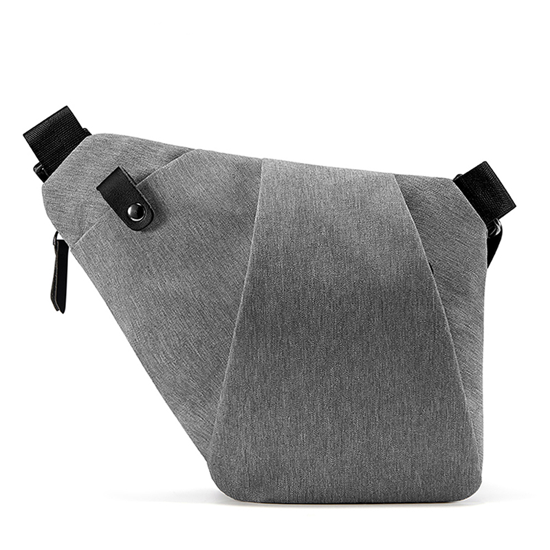 NewBring Shoulder Bags for Men Waterproof Nylon Crossbody bags Male Messenger Bag Casual Travel Handbags,  Gray