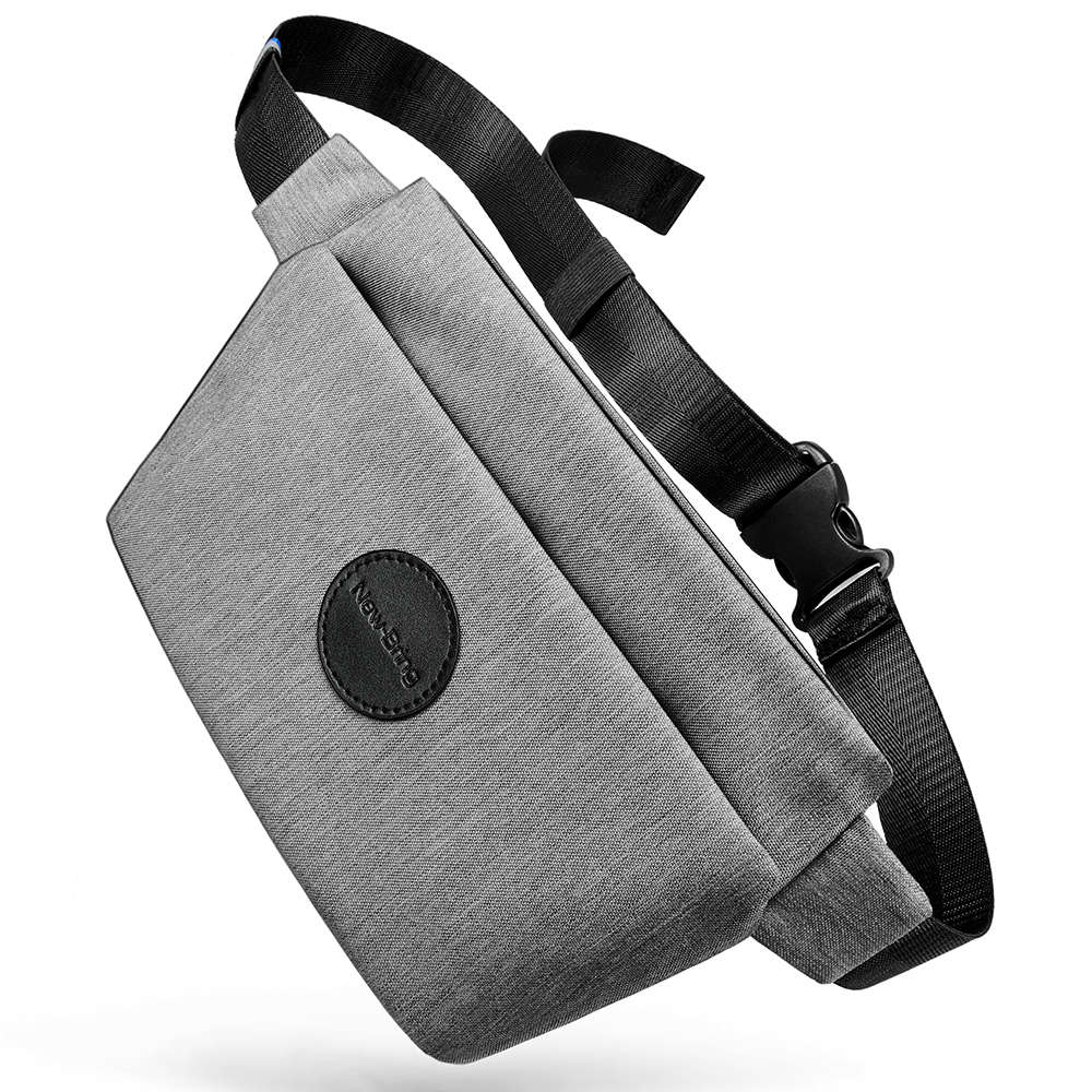 5b2e90a2adc88 New-Bring Fanny Pack for Men and Women Waterproof Waist Bag Bum Bag with  Hidden Pockets Travel Sport Sling Bag (Gray) Item NO  613815