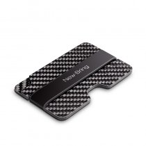 NEW-BRING Carbon Fiber Slim Card Holder Wallet & RFID Blocking Money Clip