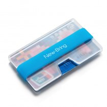 NewBring Compact Credit Card Holder Blue - Ultralight Acrylic Slim Wallet Money Clip, Blue