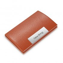 New Bring Business Card Holder for Men Metal Credit Card Case Wallet Slim Travel Wallet, Orange