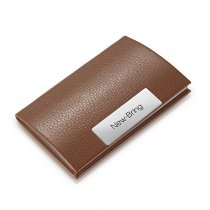 New Bring Business Card Holder for Men Metal Credit Card Case Wallet Slim Travel Wallet, Brown