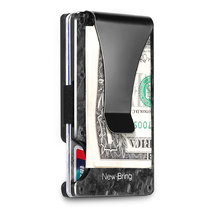 New-Bring Forged Carbon Fiber Minimalist Wallet for Men-Credit Card Holder with Money Clip-Mens Front Pocket RFID Blocking Wallet Slim