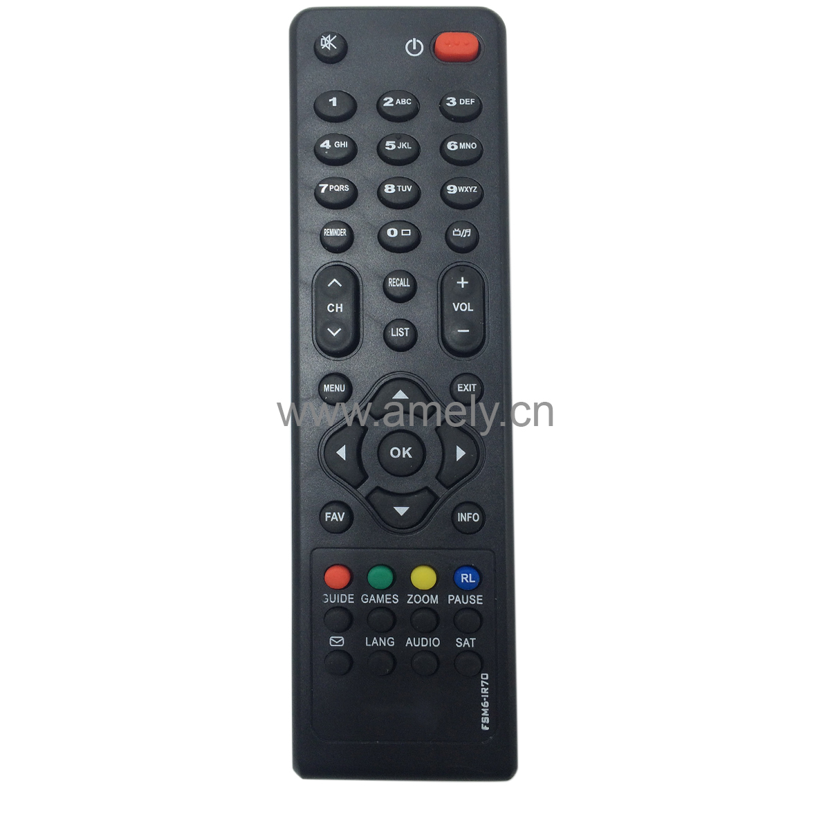 FSM6-IR70 Use for DIALOG TELEVISION TV remote control