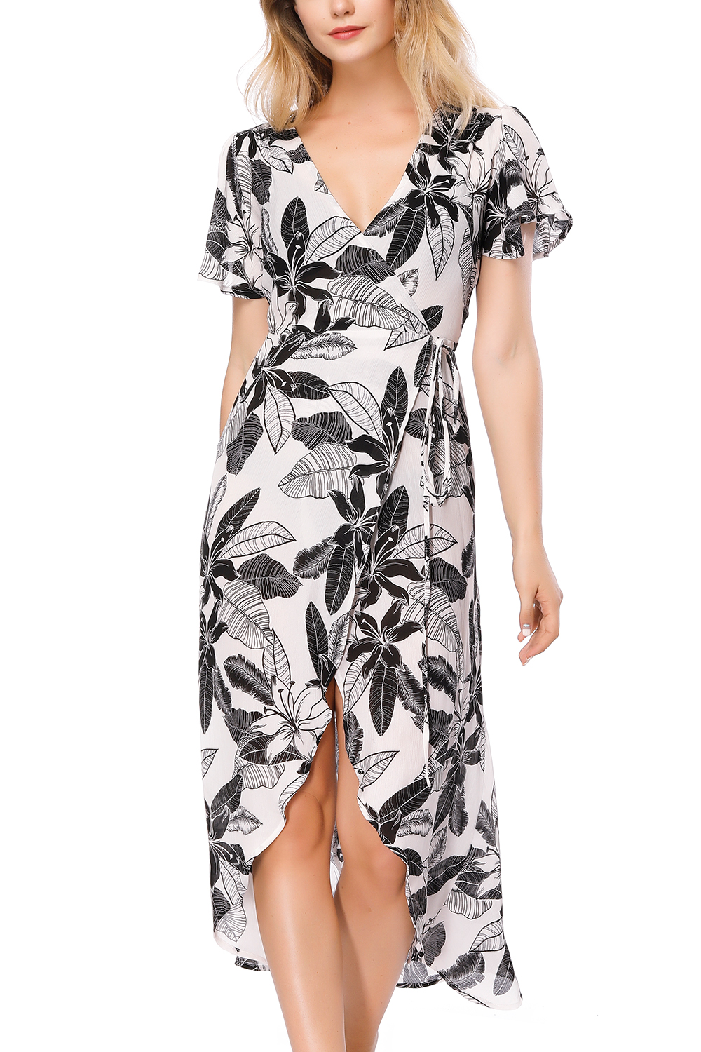 Beach Cover up Bikini Floral Dress