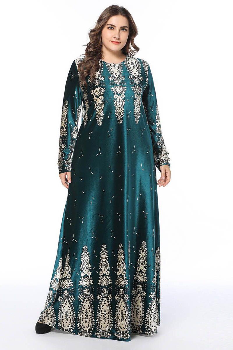 Plus Size Mixed Print Boutique Maxi Dress