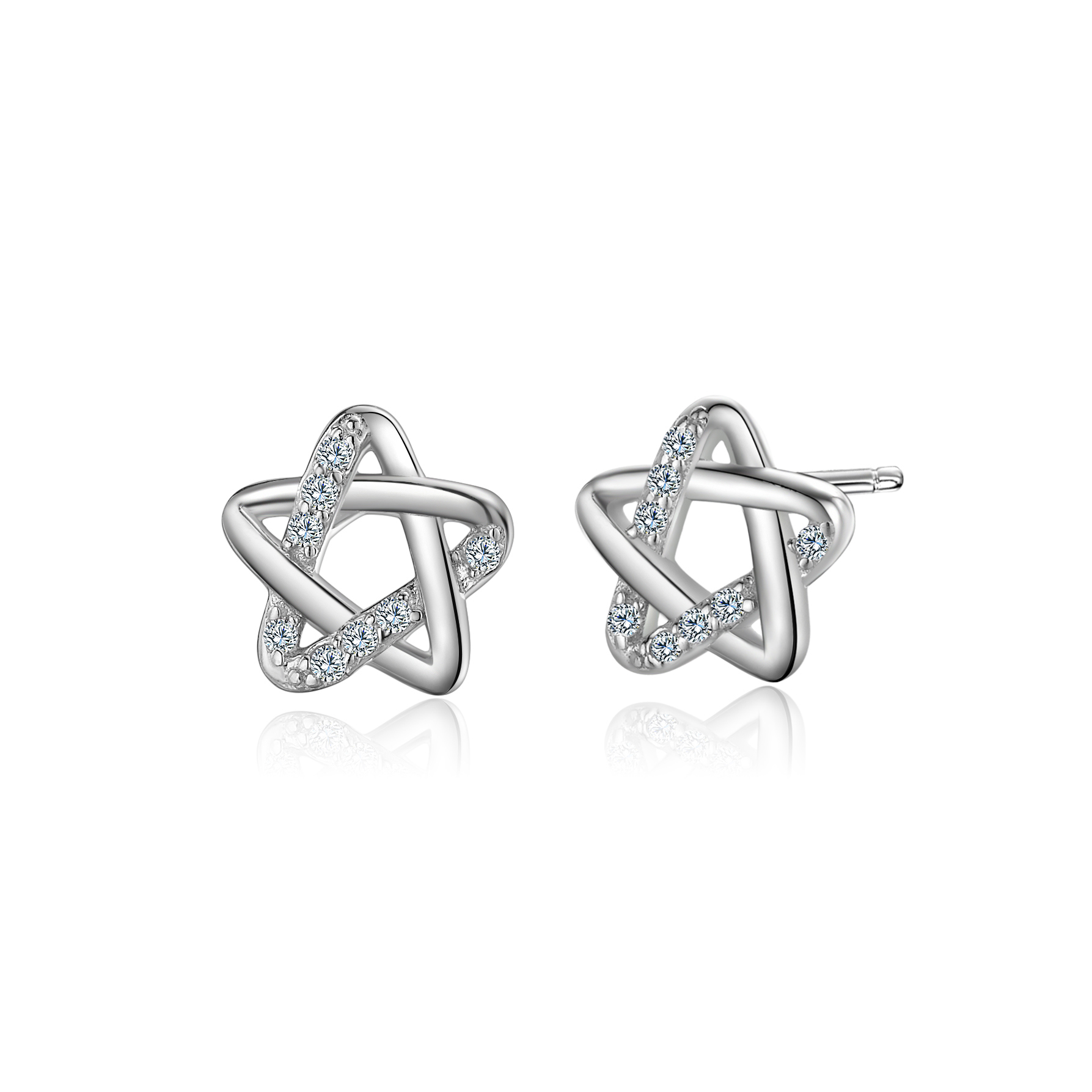 Whcreat Star Shaped 925 Sterling Silver Earrings Studs For Women S