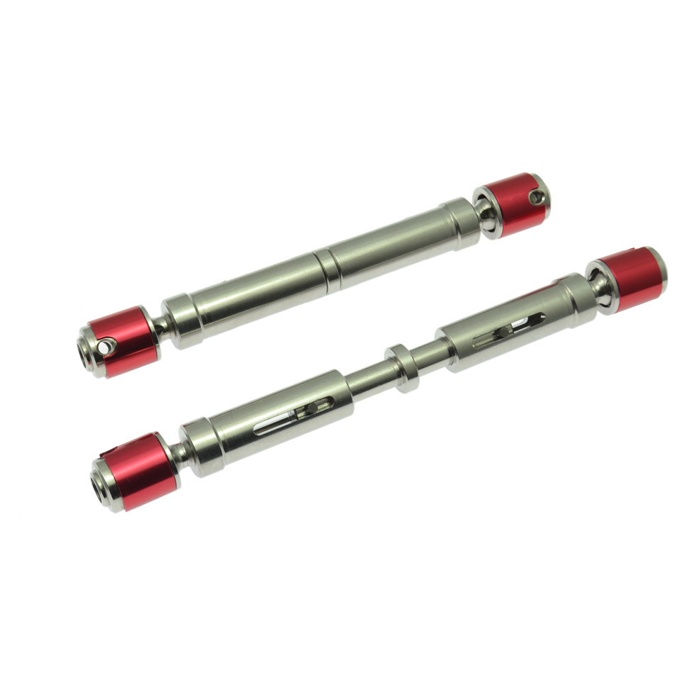 2PCS RC Cars Metal Drive Shaft for Tamiya CC01 AXIAL SCX10 Rock Crawler  Parts Upgraded