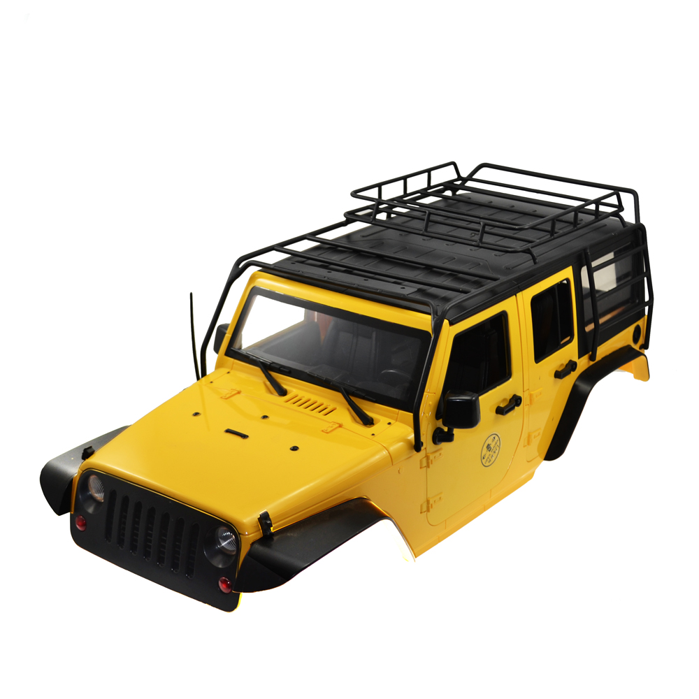 RCAidong RC Rock Crawler 1:10 Crawler Car Shell and Luggage Rack for Axial  SCX10 RC4WD D90 D110 Hard Plastic Wheelbase 313 MM