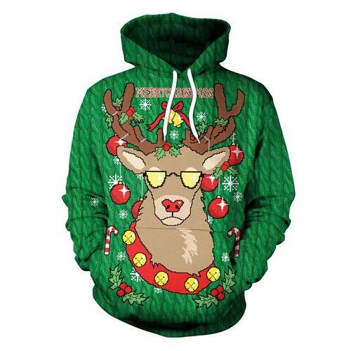 Christmas Hoodies.Men Women Print Hoodie Pullover Christmas Hoodies Sweatshirts