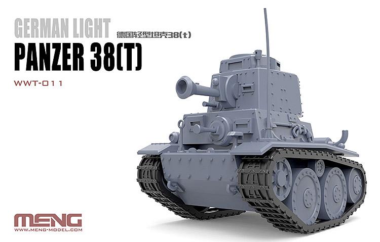 German Light Tank Panzer Meng WWT-011 38T Q Edition Plastic Assembly Model